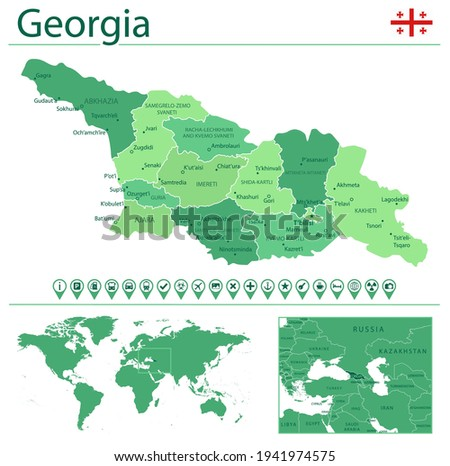 detailed map of georgia with