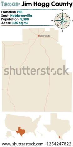 detailed map of jim hogg county