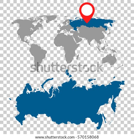 Vector images illustrations and cliparts detailed map of russia detailed map of russia russian federation and world map navigation set flat vector illustration gumiabroncs Image collections