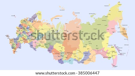 Russia Map Vector Download Free Vector Art Stock Graphics Images - Russia map with cities