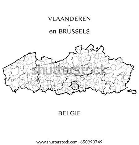 detailed map of the belgian