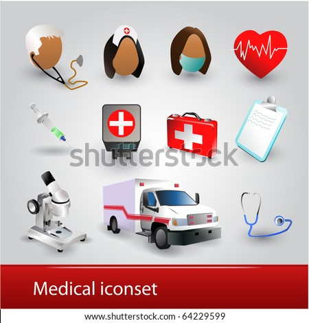 Detailed medical iconset - stock vector