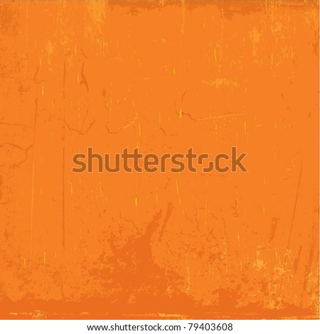Detailed orange grunge background