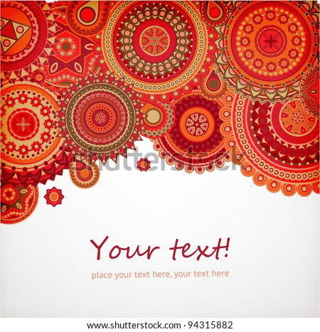 Detailed ornament background for bright design, vector - stock vector
