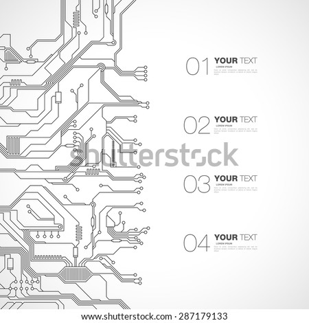detailed printed circuit board