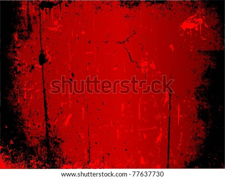 Detailed red and black grunge background
