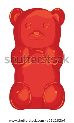 detailed red gummy bear jelly