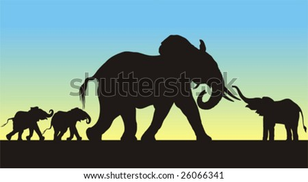 detailed silhouettes of a