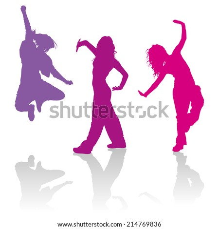 detailed silhouettes of girls