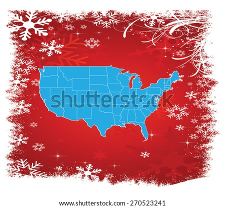 detailed united states map with