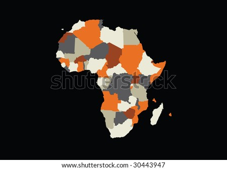 detailed vector africa map