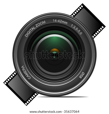 Detailed vector camera lens. To see more detailed vectors go to my portfolio...