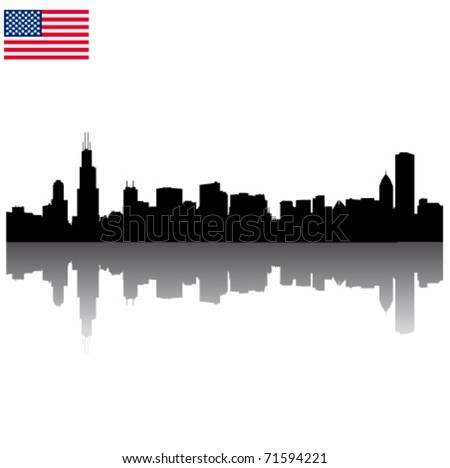 detailed vector chicago