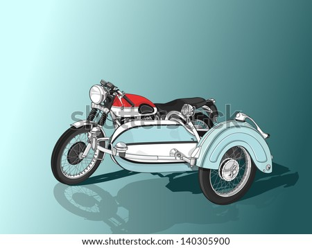 detailed vector drawing of a