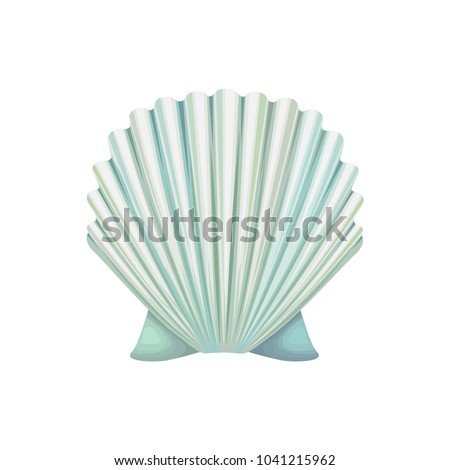 detailed vector icon of scallop
