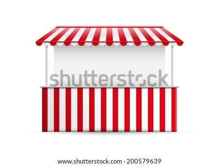 Shutterstock Detailed vector illustration of a stall.