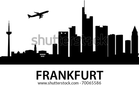 detailed vector illustration of Frankfurt am Main,Germany