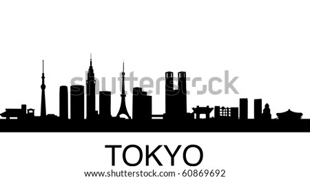 detailed vector illustration of Tokyo, Japan - stock vector