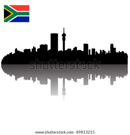 Johannesburg skyline silhouettes vector download free vector art premium vectors thecheapjerseys Images