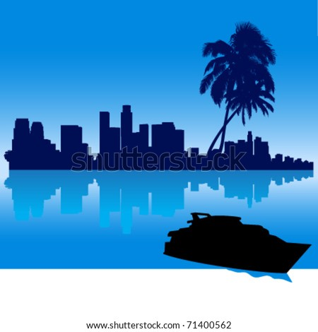 Clip Art Yacht. image clipart illustration