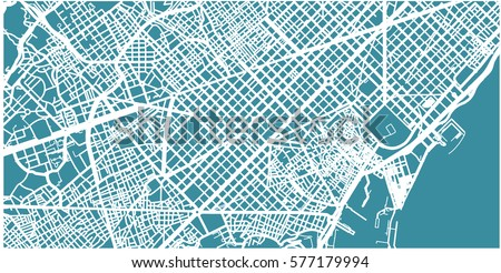 detailed vector map of