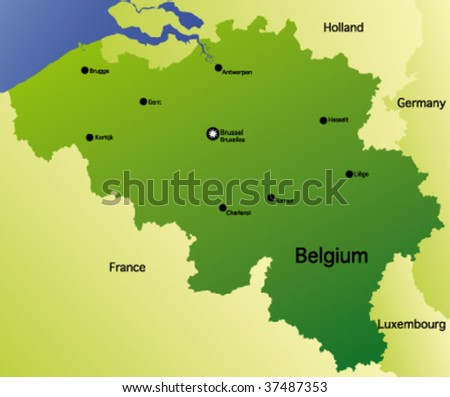detailed vector map of belgium
