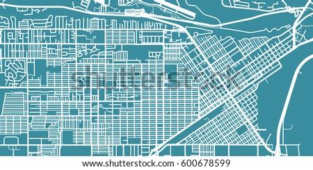 detailed vector map of billings