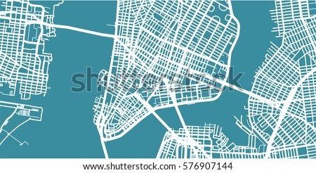 detailed vector map of new york ...