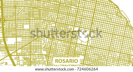 detailed vector map of rosario