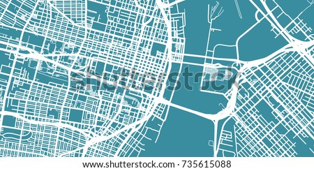 detailed vector map of st