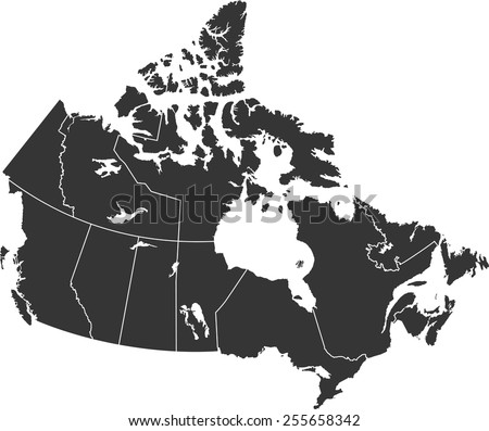 Detailed vector map of the Canada
