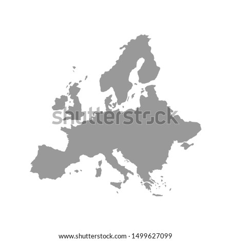 Detailed vector map of the Europe