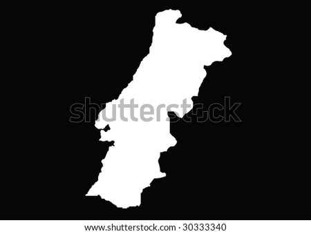 Portugal Map Vector Free Download Detailed Vector Portugal Map