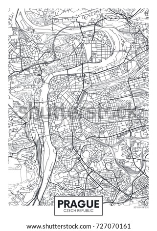 detailed vector poster city map