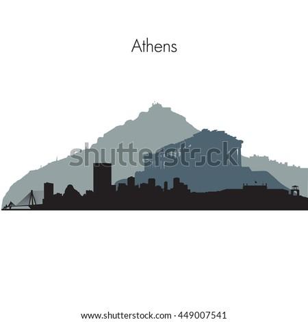 detailed vector skyline of
