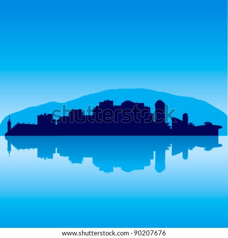 detailed vector sochi skyline