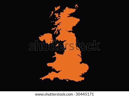 detailed vector united kingdom