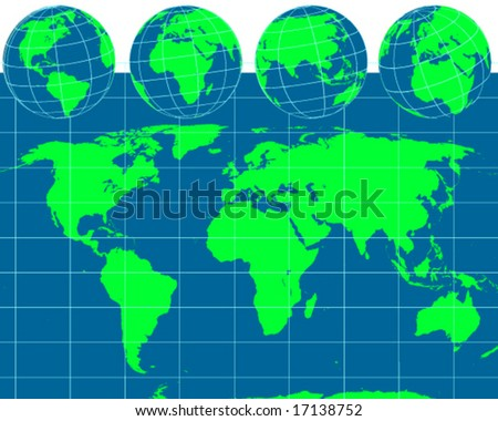 world map asia europe. vector world outline map