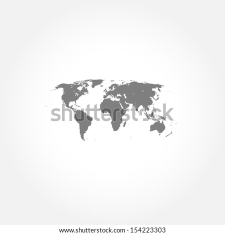Detailed world map icon