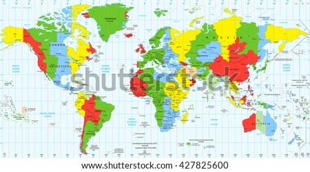 Time zone map vector download free vector art stock graphics detailed world map standard time zones vector illustration gumiabroncs Images