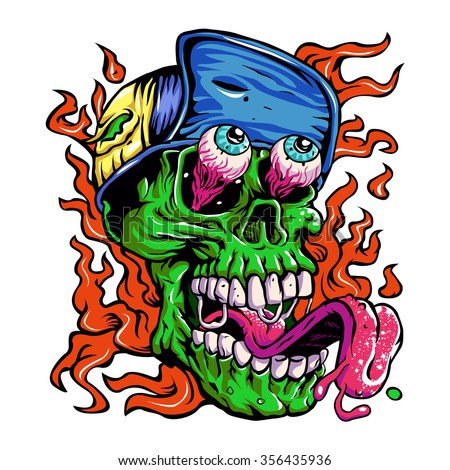detailed zombie wearing hat