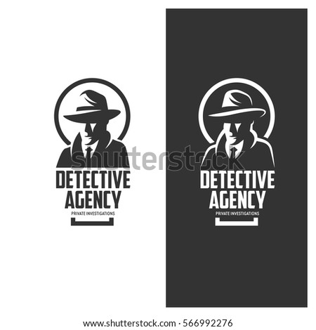 detective agency emblem with