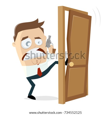 detective breaking the door