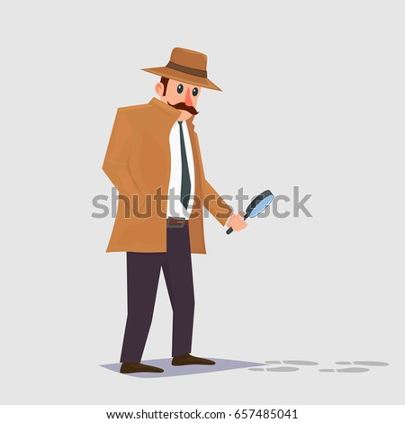 Detective following clues