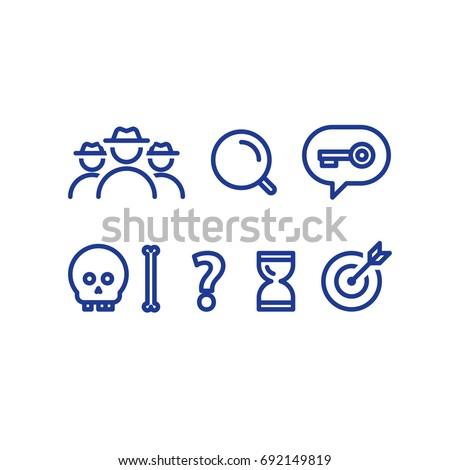 detective game concept  quest