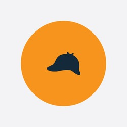 Detective Hat icon silhouette vector illustration