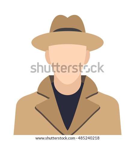 detective icon or button in