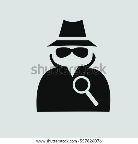 Detective Icon Vector.