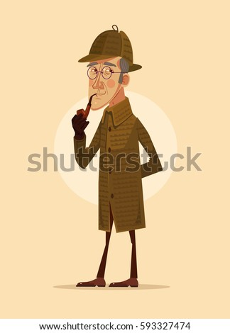 detective man character smoking