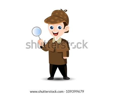 Detective Mascot - stock vector